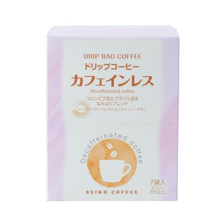 ドリップコーヒー カフェインレス 7P